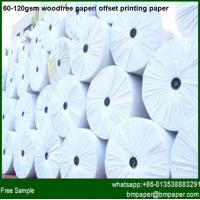 Buy cheap 60gsm 70gsm 80gsm woodfree offset printing paper from Wholesalers
