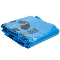 """Buy cheap Gravure Printing Plastic Garbage Bags 40"""" X 46"""" Blue Tint Linear Low Density from Wholesalers"""