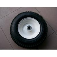 Buy cheap Yellow Tires and Red wheel wheelbarrow 4.00-8 from Wholesalers