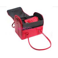 Buy cheap Red Beauty Travel Cosmetic Bags , Crocodile Leather Cosmetic Train Case from Wholesalers