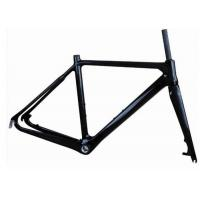 Buy cheap Light Weight UD Finishing Carbon Cyclocross Bike Frames 700C Disc Brake T700 from Wholesalers