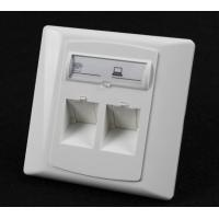 Buy cheap Germany Type 86*86 45 Degree Wall Mount Socket Double Port Face Plate With from wholesalers