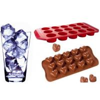 Quality Silk Printing Silicone Ice Cube Trays , Cooler Chocolate Mold wholesale