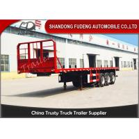 Buy cheap 20 Ft 40 Ft 45 Feet Flatbed Semi Trailer Platform High Bed Trailers For Container Delivery from Wholesalers