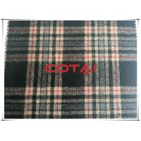 Buy cheap Vintage Flannel One Sided Medium - Large 8cm Plaid/Tartan Black Wool Fabric from Wholesalers