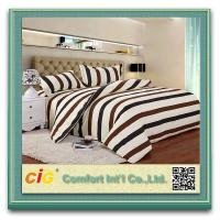 Buy cheap Striped Luxury Soft Fitted Bedding Sheets With Cotton Or Polyster White / Blue / Red from Wholesalers