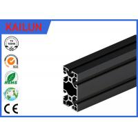 Buy cheap Black Anodised V - Slot Aluminum Extrusion Section for Assembly Line Profile 80 MM X 40 MM from Wholesalers