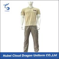 Buy cheap Middle East Beige Security Guard Uniform Short Sleeve With Custom Logo / Label , CNAS Listed from Wholesalers