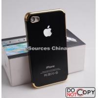 China Durable Metal + Gold Frame Aluminum Waterproof Cell Phone Cases For IPhone4 / 4G / 4S on sale