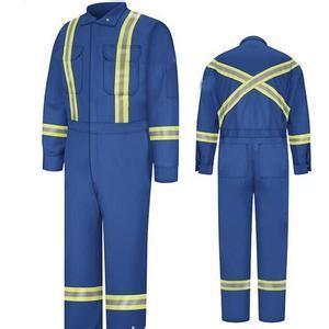 Buy cheap Blue / Yellow Men Winter Cotton Padded Flame Retardant Workwear XXS - 5XL from wholesalers