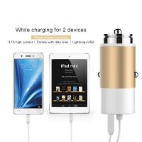 Buy cheap 5V 3.1A Dual USB Car Charger for iphone charger For ipad 2 3 4 5 For Samsung Galay S4 S5 note USB car charger from wholesalers