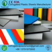 Buy cheap polypropylene corrugated plastic sheet from Wholesalers