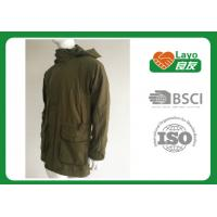 Quality Olive Color Waterproof Shooting Jacket 100% Polyester Windbreak Thermal For Men wholesale