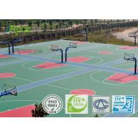 Quality Sports Training Ground Basketball Court Flooring , Synthetic Sports Flooring For Tennis Play for sale