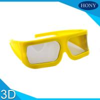 Buy cheap Yellow Big Frame Linear Polarized 3D Glasses 148 * 52 * 155mm For Cinema from Wholesalers