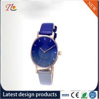 Buy cheap wholesale customization Pu watch  alloy case  quartz watch fashion watch Gradient blue watch elegant style Monochrome from wholesalers