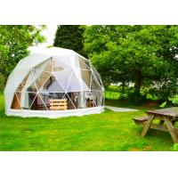 China Stoving Varnish Large Dome Tent , Multi Color Metal Geodesic Dome Cold Galvanized Steel on sale