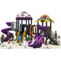 Buy cheap Safety Kids Playground Slide / Non - Toxic Childrens Plastic Playground Equipment from Wholesalers