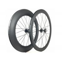 Buy cheap 700C Fixie Flip Flop Rear Wheel Toray 700 With Alloy Black / Red Nipple from Wholesalers