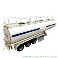China  Tri Axl Crude  Oil Fuel Petrol Oil Tank Semi Trailer  45m3 Fuel Tank Carrier on sale