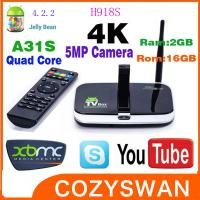 Buy cheap Quad Core Camera 4K Android Smart TV Box H918S Allwinner A31S Google TV Boxes from Wholesalers