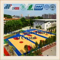 Buy cheap Beautiful Decoration Wood Grain Basketball Court SPU Sports Flooring for Indoor Outdoor Court from wholesalers