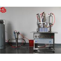 Buy cheap Semi Automatic Hair Spray Mousse Styling Gel Aerosol Can Filling Machine from Wholesalers