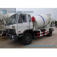 China 5000 Liters Dongfeng 153 Transit Mixer Truck With White And Blue Stripe Drum on sale
