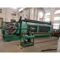China High Efficiency Gabion Wire Mesh MachineGreen Color With Automatic Oil System on sale