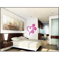 Buy cheap Heart Shape Flower Nature Wall Decals With Light Color For Living Room 1m x 1m from Wholesalers