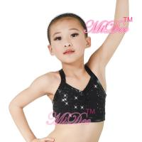 Buy cheap Camisole Full Sequins Jazz Bra Tank Top Hip Hop Dance Clothes With Black Edge from wholesalers