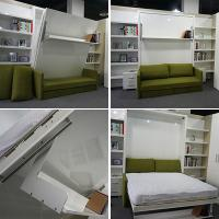Buy cheap Space Saving Contemporary Wall Bed With Sofa And Bookshelf For Home from Wholesalers