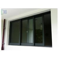 Buy cheap Black Color Aluminium Sliding Windows Powder Coating Corrosion Resistant from wholesalers