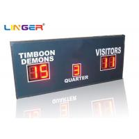 Buy cheap Small Red Simple Function Electronic LED Football Scoreboard only with Scores and Period from Wholesalers