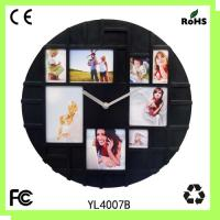 Buy cheap Photo frame wall clock/plastic gift clock from wholesalers