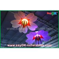 Buy cheap LED Hang Flower Inflatable Lighting Decoration Nylon Cloth For Advertising / Event from wholesalers