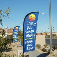 Buy cheap Feather Flag Banners , feather flag , teardrop wind flag 1.2m - 5.6m from Wholesalers