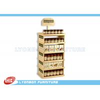 China Supermarket Pine Wood Gondola End Display ODM For Can food , Color Painted on sale