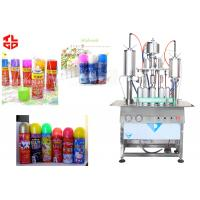 Quality Aerosol Bottle Filling Machine For Party Snow Spray Can , Aerosol Filling Equipment wholesale
