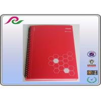 Buy cheap red Recyclable stone paper A5 spiral office notebooks of PP Cover from Wholesalers