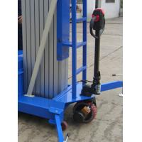 Buy cheap Electrical Pulling Device Aerial Work Platform Aluminum Type With Lifting Height 14m Quadruple Mast 300Kg from Wholesalers