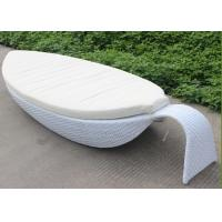 Buy cheap Leaf Style Park Rattan Chaise Lounge For Outdoor / Indoor Furniture from Wholesalers