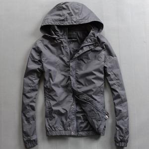 Buy cheap Lightweight Nylon Waterproof Men'S Windbreaker Jacket Black Or Custom Color from wholesalers