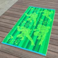 Buy cheap Full Color Printed Jacquard Beach Towel Luxurious Feel With Ninja Turtle Patterns from Wholesalers