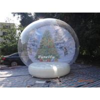 Buy cheap Inflatable Christmas Advertising Decoration Snowman Snow Globe from Wholesalers