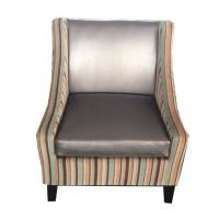 Fabric Single Couch Chair Indoor , Dark Color One Seater Sofa Chair