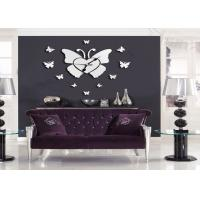Buy cheap Retro Butterfly Wall Decor Sticker Clock Silent , Arts and Crafts Clock from Wholesalers