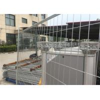 Quality Temporary Fencing panels OD 32 pipes included clip ,temporary fencing brace as well panels for sale