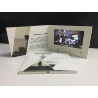 Buy cheap Paper material Video promotional card 7inch screen LCD video brochure card digital video booklet for business from Wholesalers