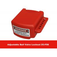 Buy cheap OEM Red Color 3 Lock Holes 210G Adjustable Flanged Ball Valve Lock Out from Wholesalers